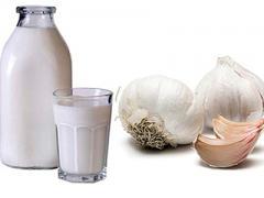 клизма из молока и чеснока