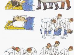 Помощь при переломе позвоночника до приезда скорой помощи