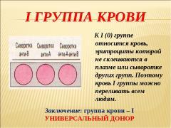 Характер по группе крови 1 положительная, его особенности