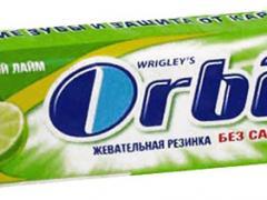состав жевательной резинки орбит
