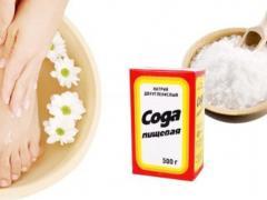 сода для чистки пяток от огрубевшей кожи