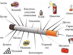 что содержится в сигарете
