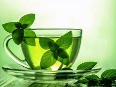 сбить давление народными средствами: чай с мятой
