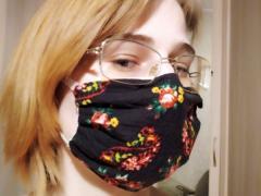 маска из хлопчатобумажной ткани совими руками