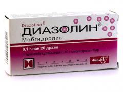 Детям от аллергии можно давать Диазолин