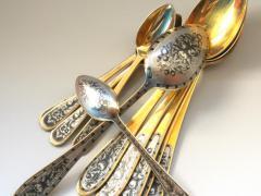 Серебряную ложку покрывают специальным материалом