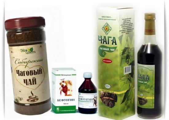 лекарственные препараты на основе чаги