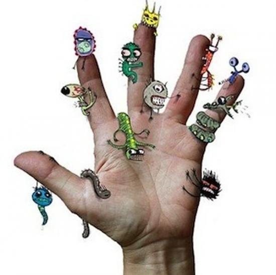Микробы пол ногтями