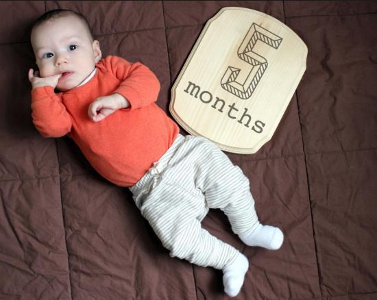 ребенок 5 месяцев режим дня