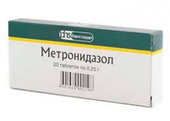 метронидазол, формы выпуска