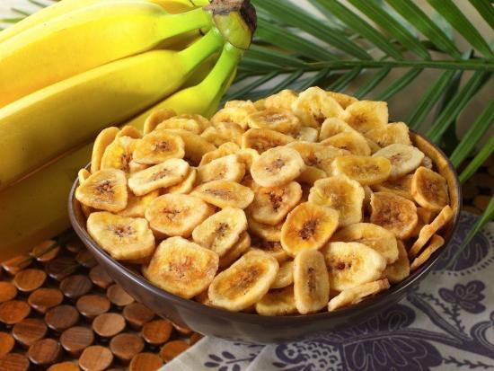 калорийность банановых чипсов и свежих фруктов