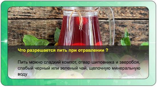 что можно пить при отравлении