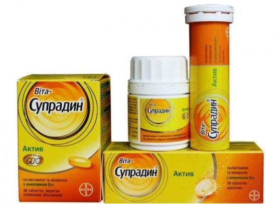 Состав витаминов Супрадин