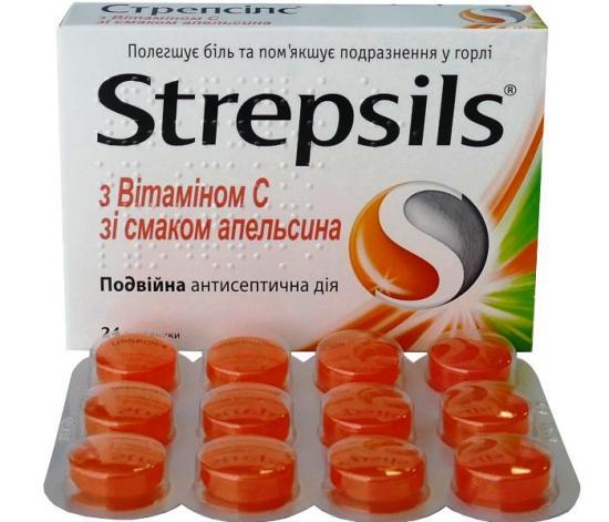Стрепсилс от боли в горле